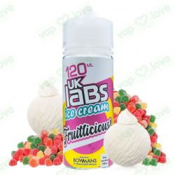 Fruitlicious 100ml 0mg - UK Labs Ice Cream